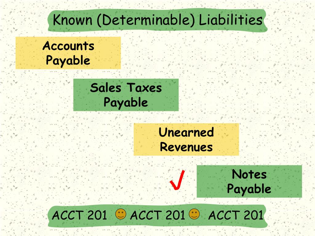 Known (Determinable) Liabilities