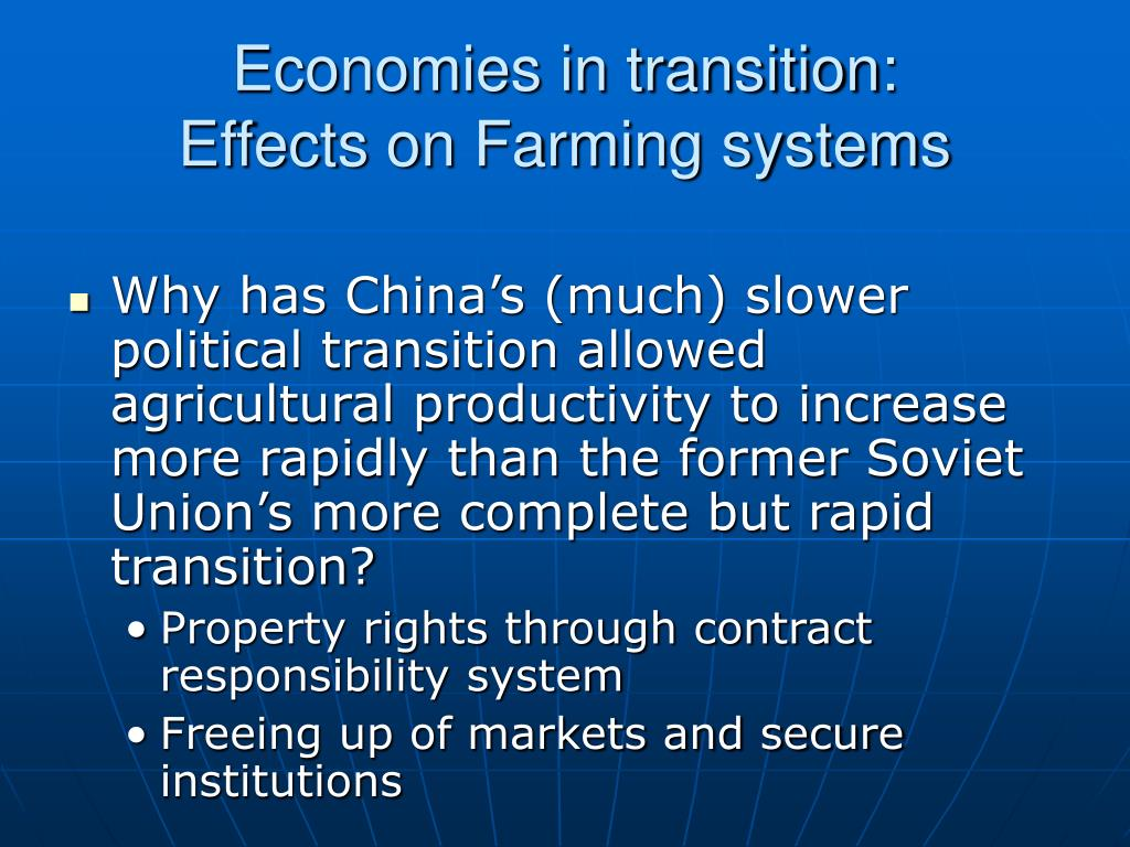 Economies in transition: