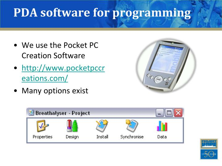 Pda software for programming