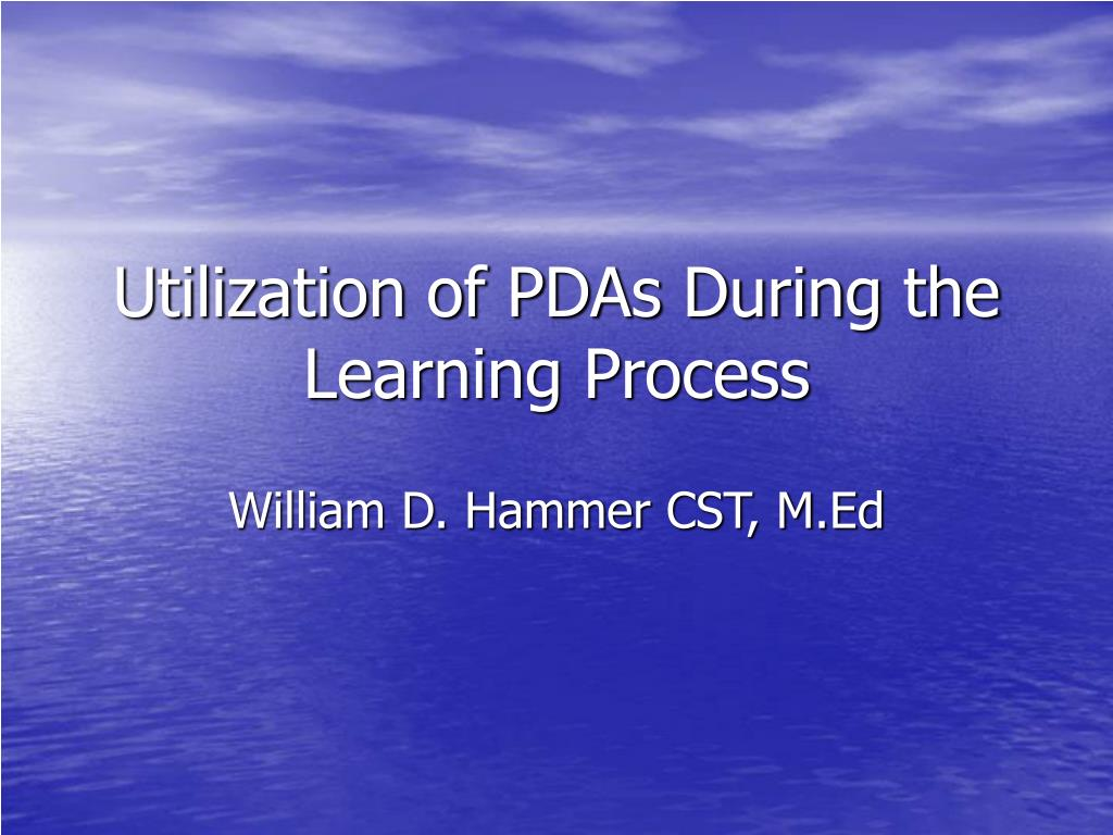 utilization of pdas during the learning process l.