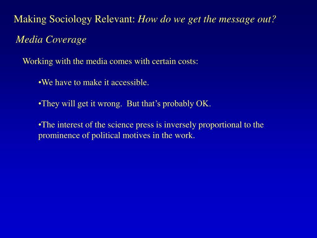 Making Sociology Relevant: