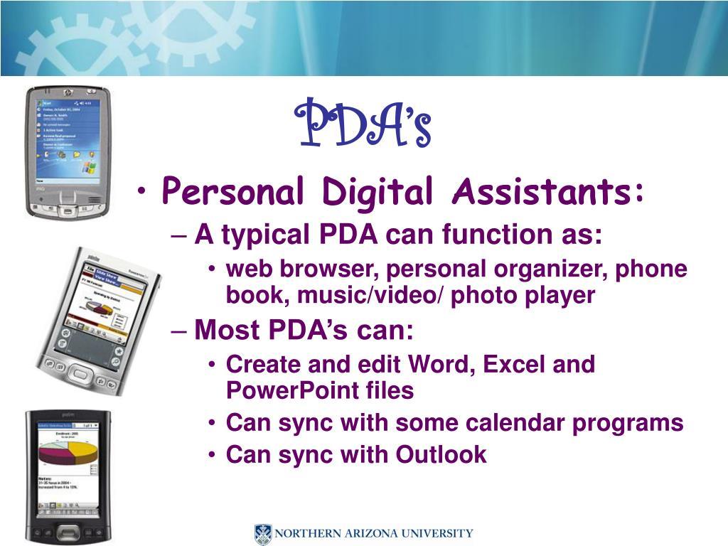 PDA's
