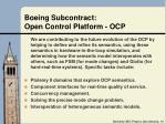 boeing subcontract open control platform ocp