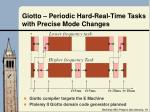 giotto periodic hard real time tasks with precise mode changes