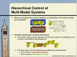 hierarchical control of multi modal systems