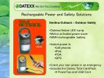 rechargeable power and safety solutions5