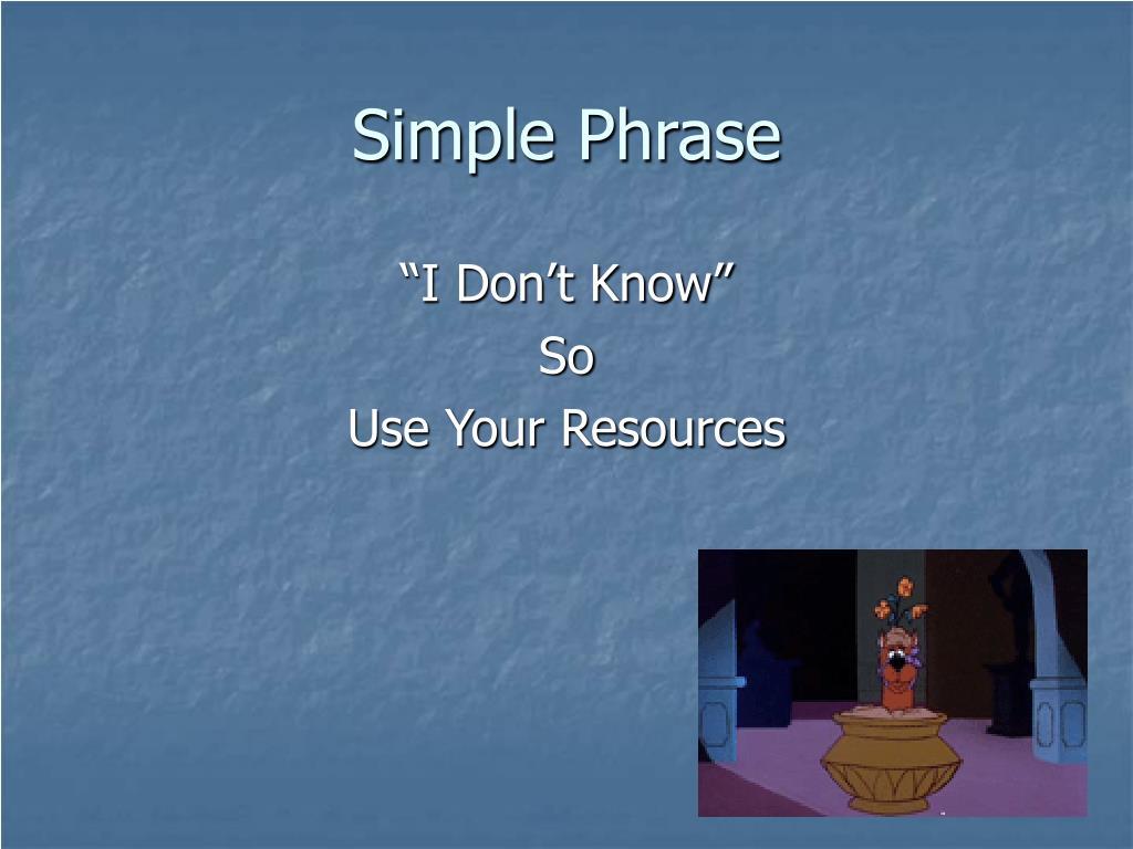 Simple Phrase