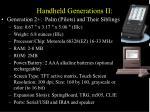 handheld generations ii