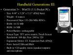 handheld generations iii