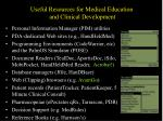 useful resources for medical education and clinical development