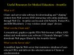 useful resources for medical education avantgo
