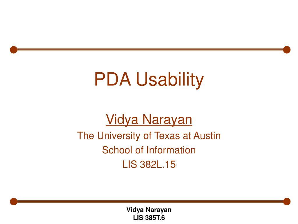 pda usability l.