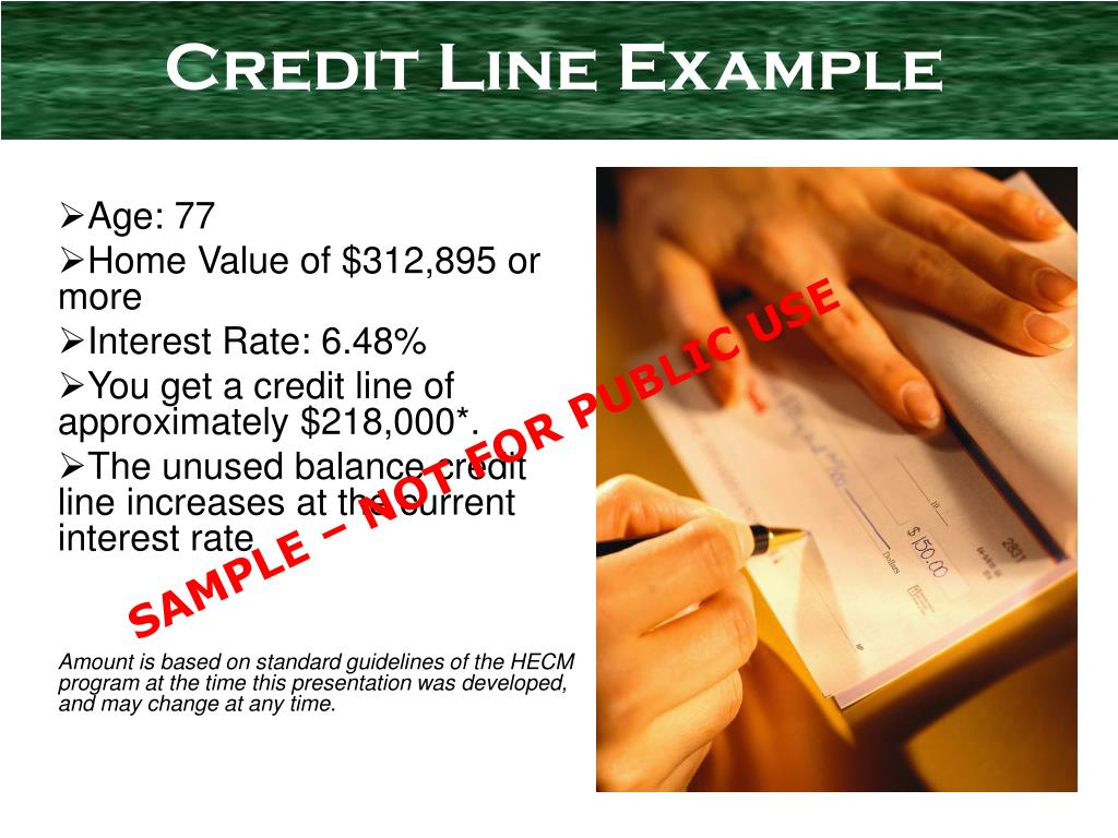 Credit Line Example