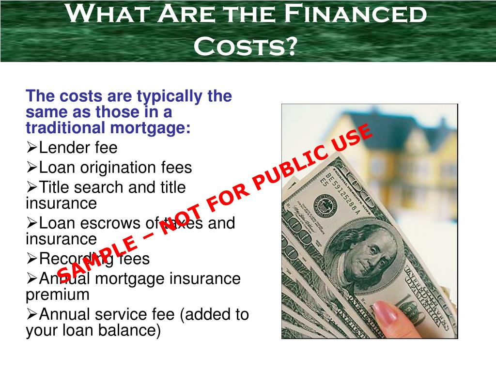 What Are the Financed Costs?