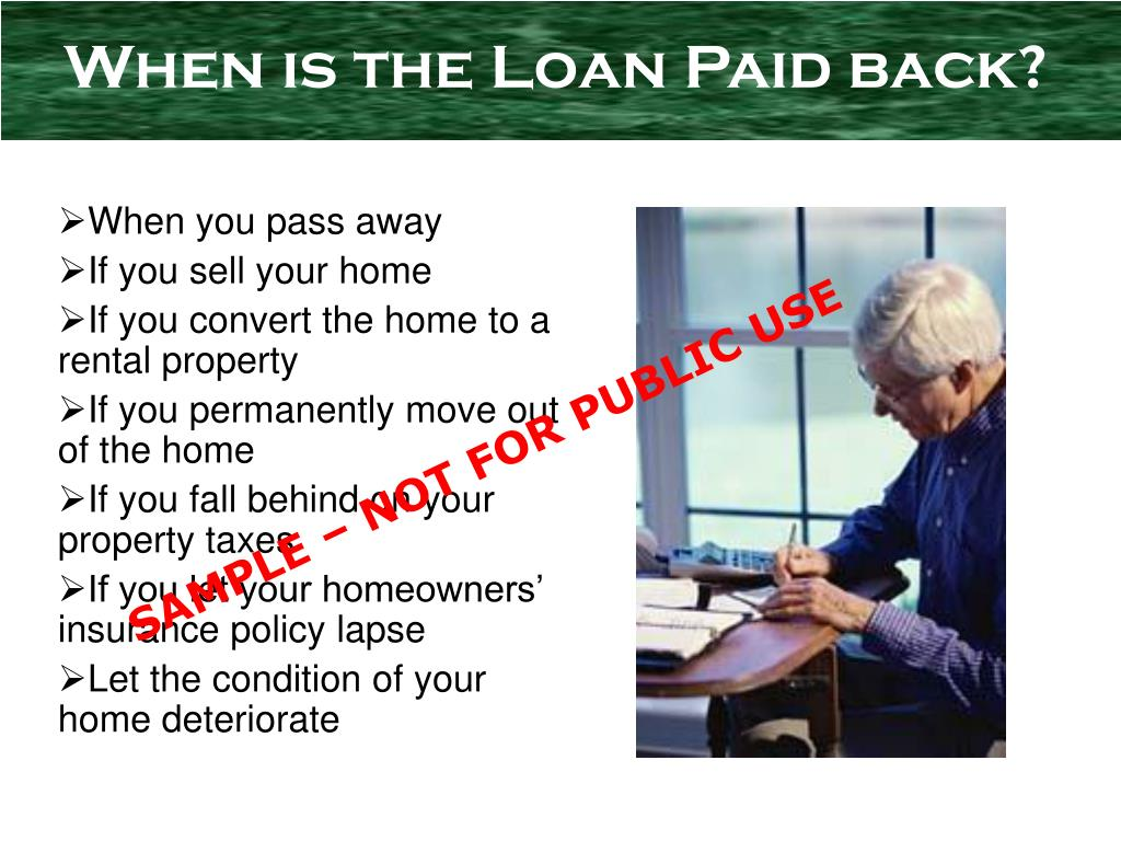When is the Loan Paid back?
