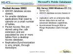 microsoft s mobile databases