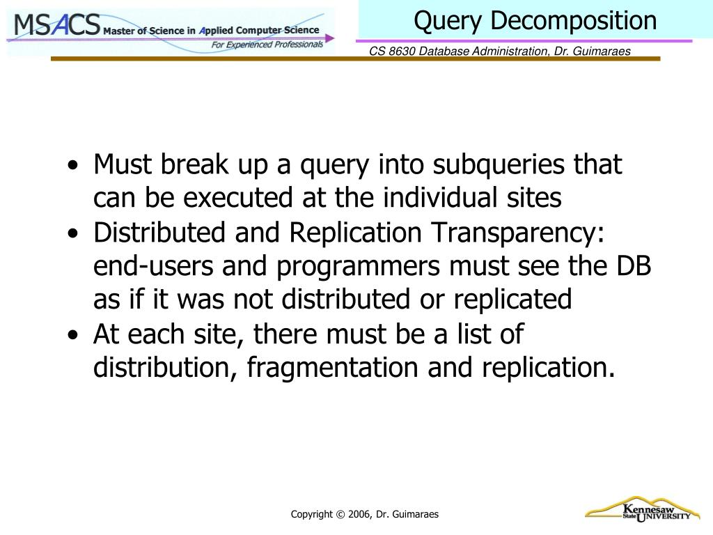 Query Decomposition