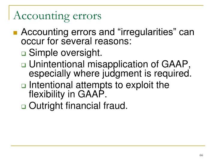 Accounting errors