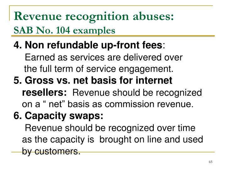 Revenue recognition abuses: