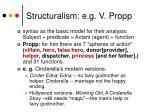 structuralism e g v propp