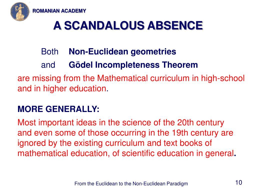 A SCANDALOUS ABSENCE