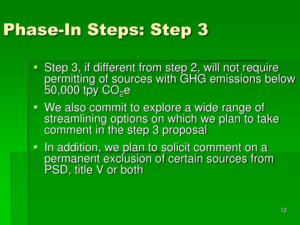 Phase-In Steps: Step 3