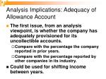 analysis implications adequacy of allowance account20