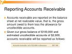 reporting accounts receivable