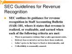 sec guidelines for revenue recognition