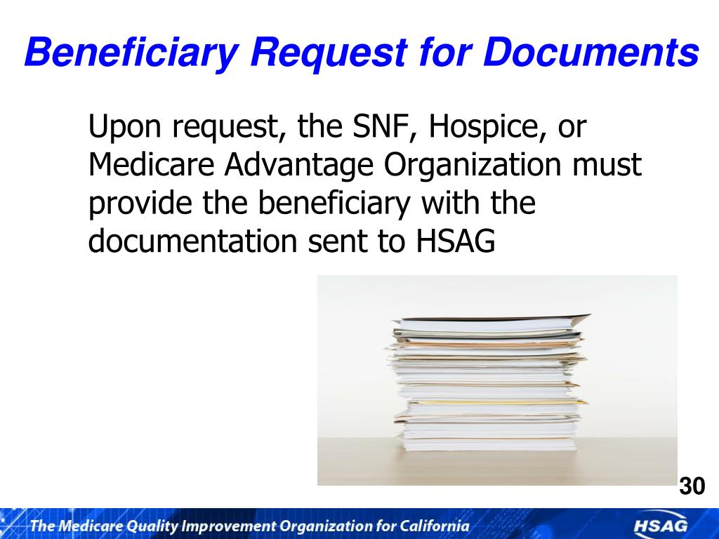 Beneficiary Request for Documents
