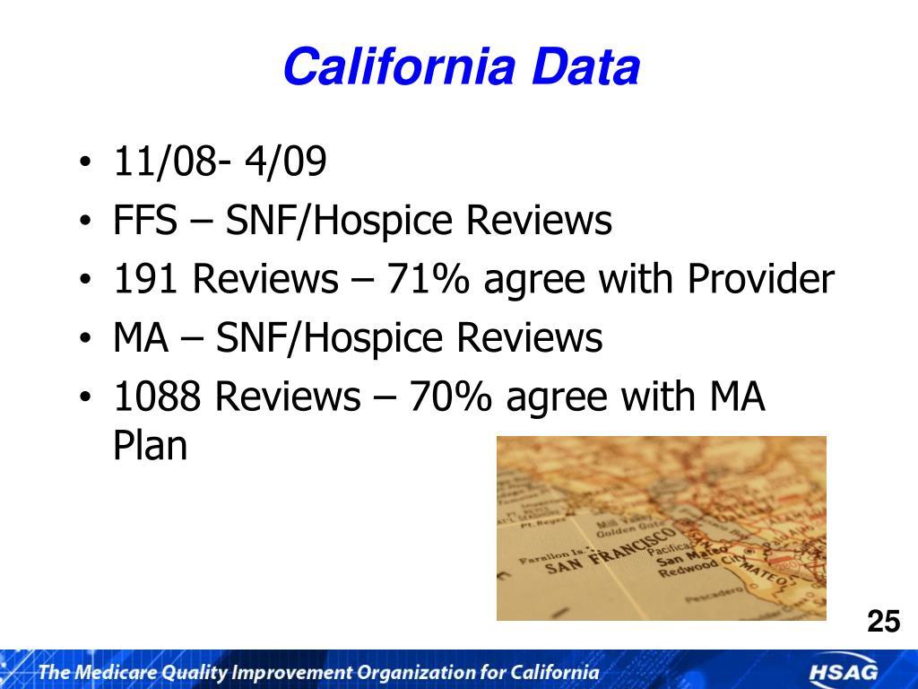 California Data