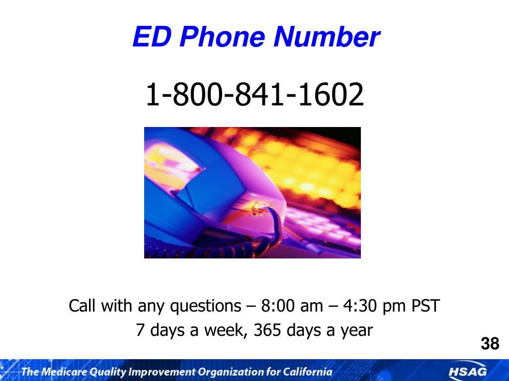 ED Phone Number