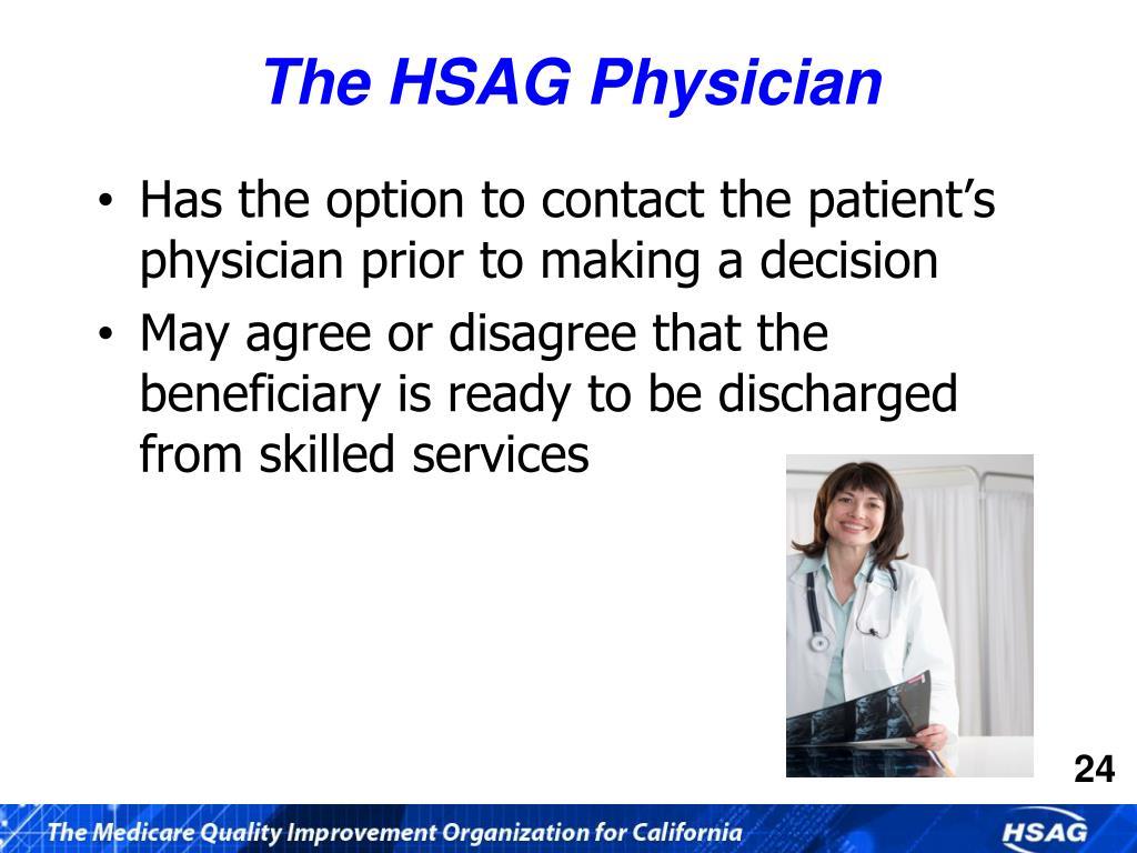 The HSAG Physician