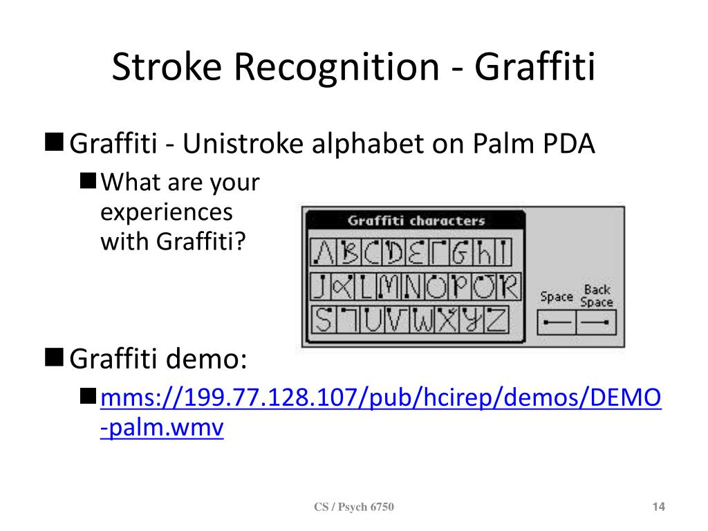 Stroke Recognition - Graffiti