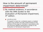 how is the amount of permanent impairment determined