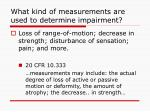 what kind of measurements are used to determine impairment