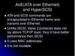 aoe ata over ethernet and hyperscsi