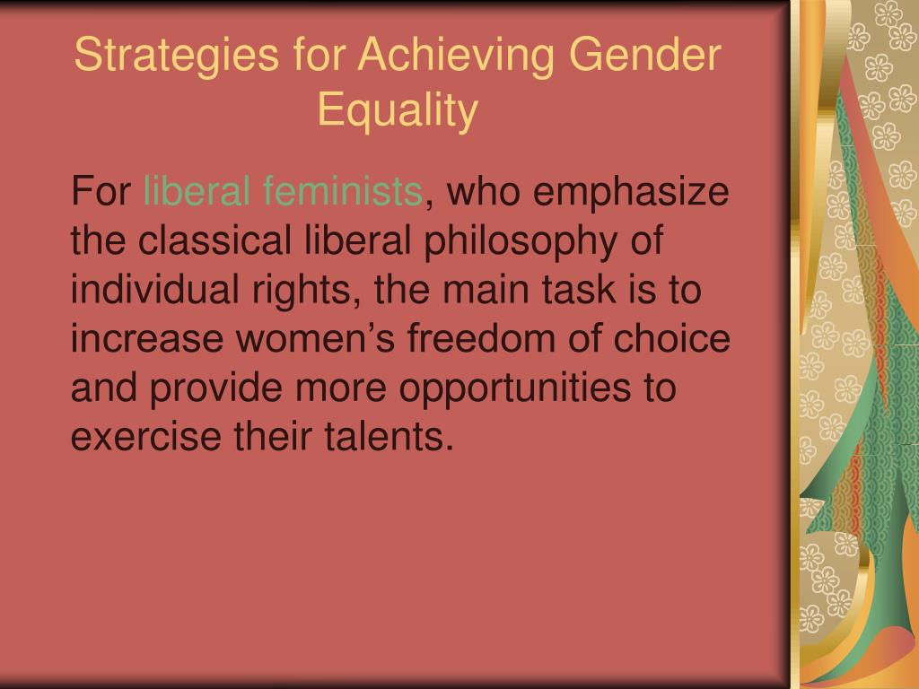 Strategies for Achieving Gender Equality