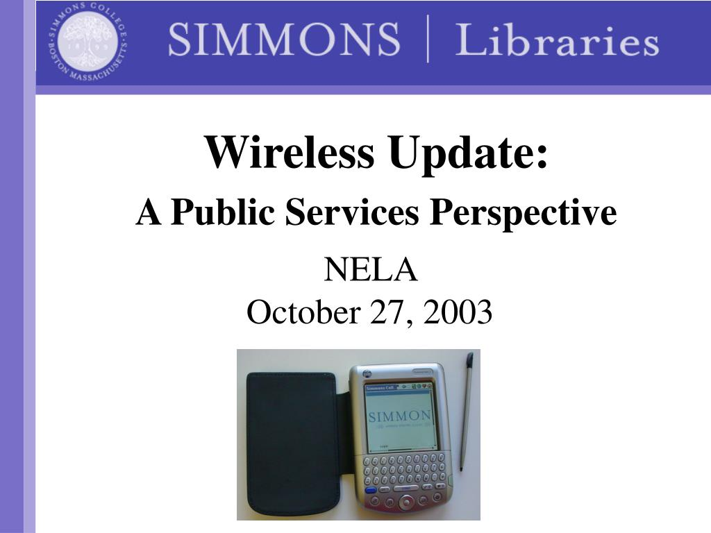 wireless update a public services perspective l.