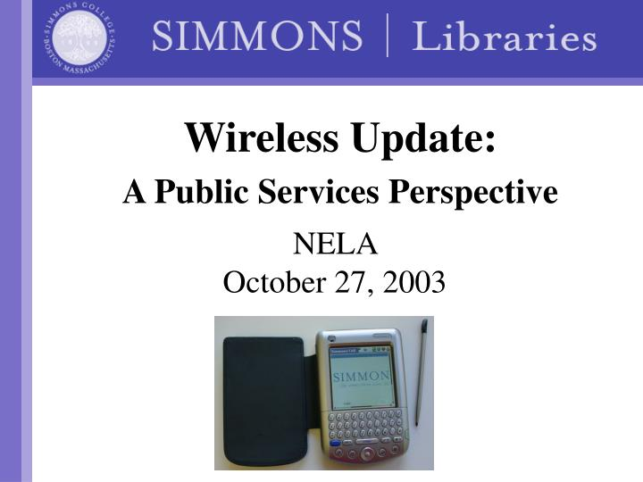 wireless update a public services perspective n.
