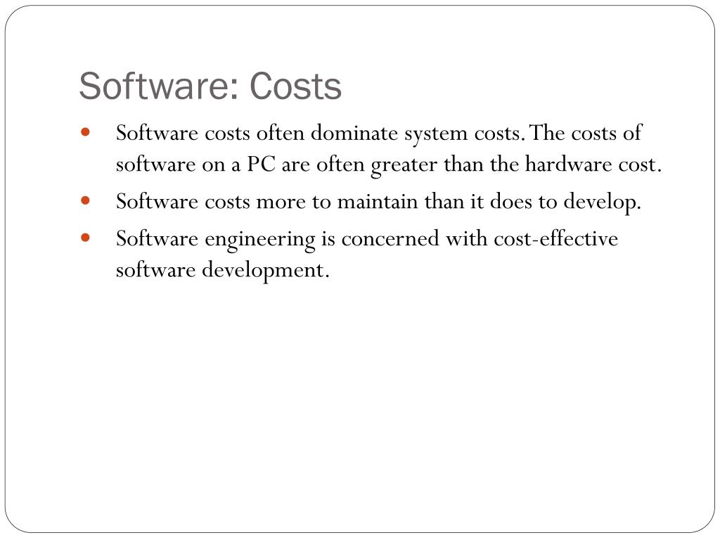 Software: Costs