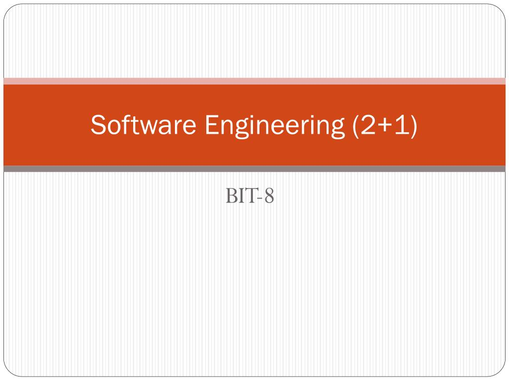 Software Engineering (2+1)