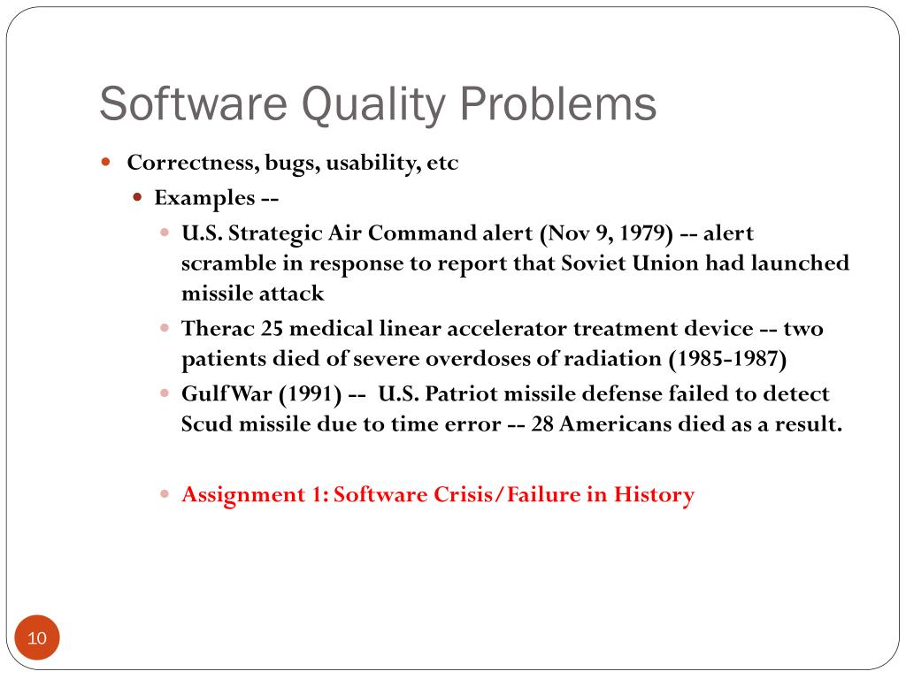Software Quality Problems