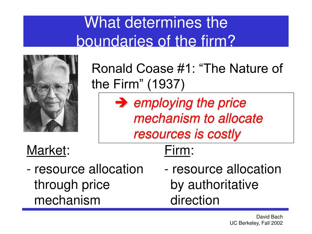 """Ronald Coase #1: """"The Nature of the Firm"""" (1937)"""