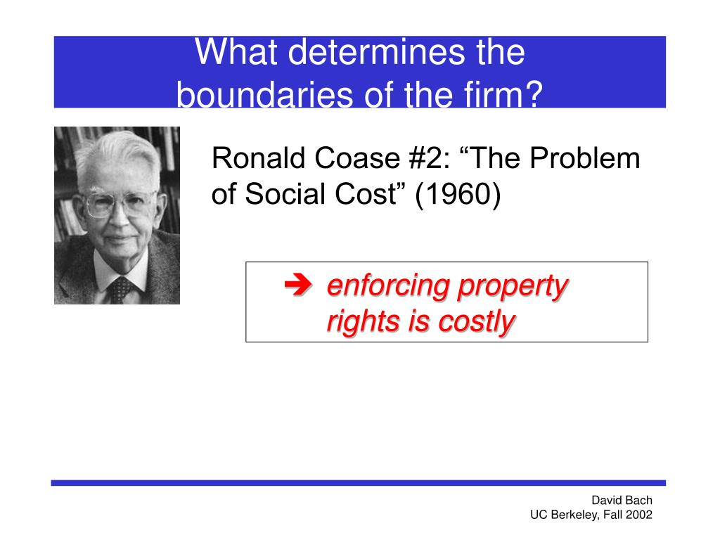 """Ronald Coase #2: """"The Problem of Social Cost"""" (1960)"""