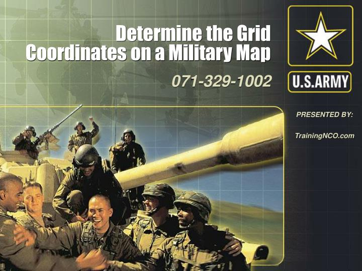 determine the grid coordinates on a military map n.