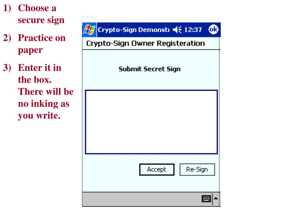 Choose a secure sign