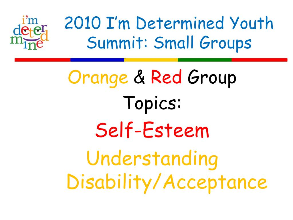 2010 I'm Determined Youth Summit: Small Groups