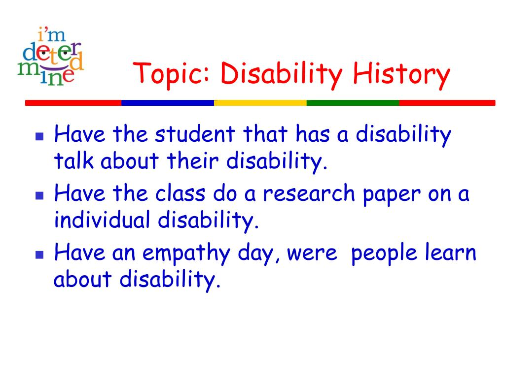 Topic: Disability History