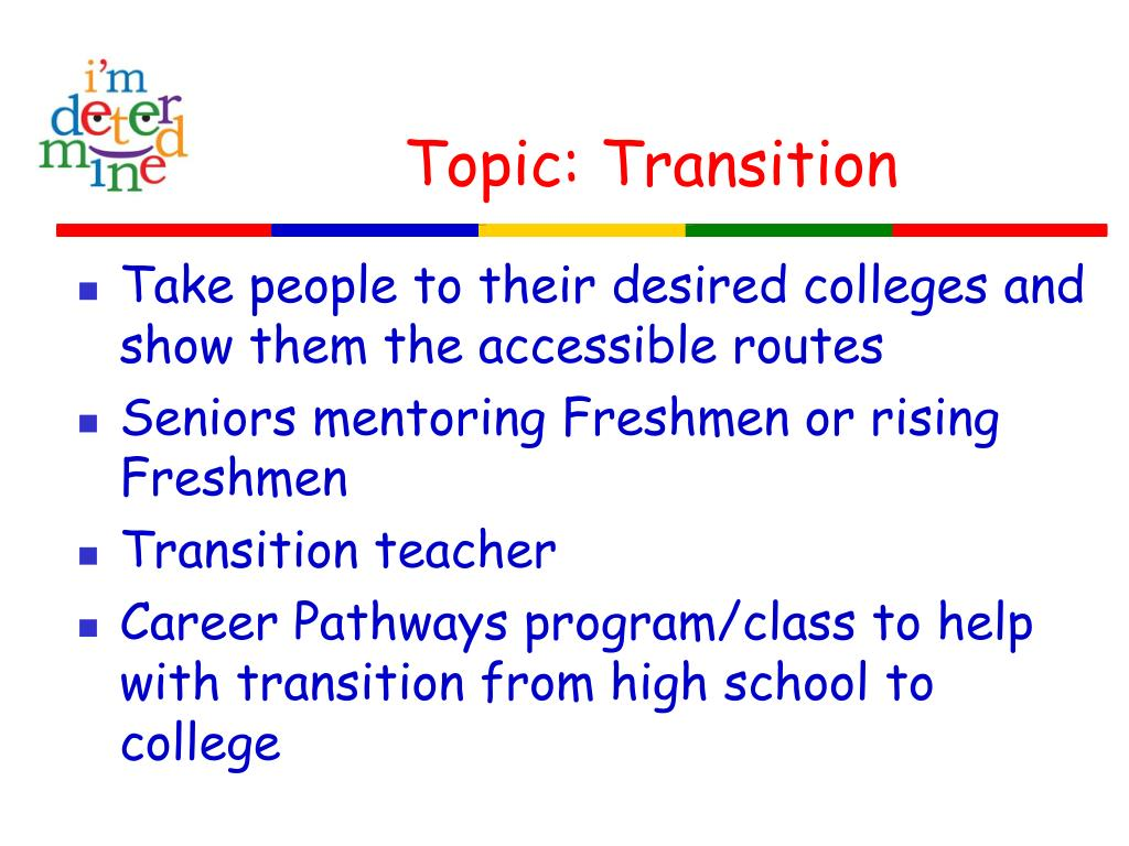 Topic: Transition